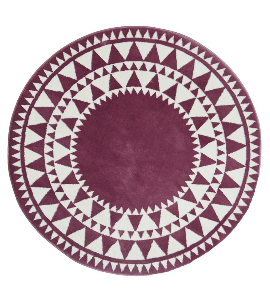 Picture of Aztec Circle Rug: Pink
