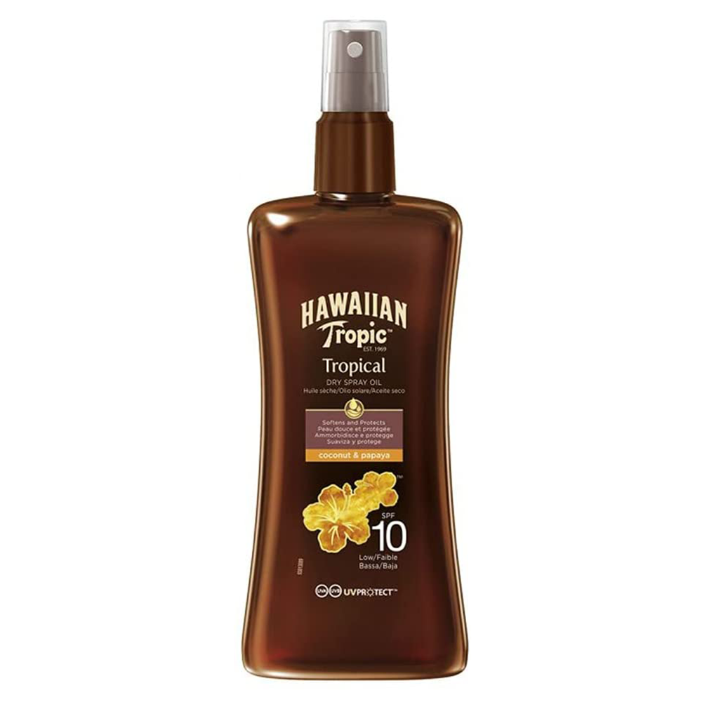 Picture of Hawaiian Tropic: Tropical Dry Spray Oil 200ml - SPF 10