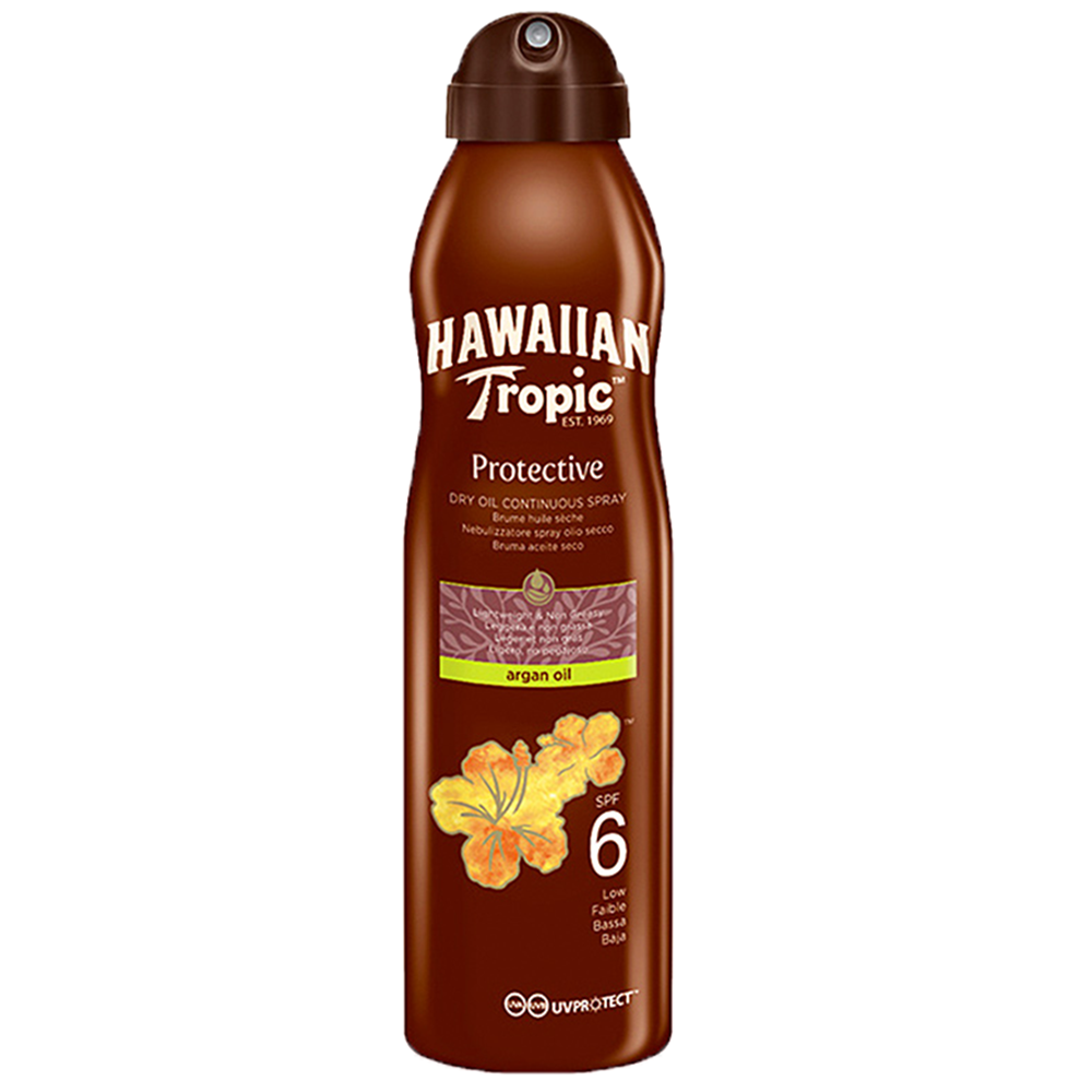 Picture of Hawaiian Tropic: Protective Dry Oil Continuous Spray 177ml - SPF 6
