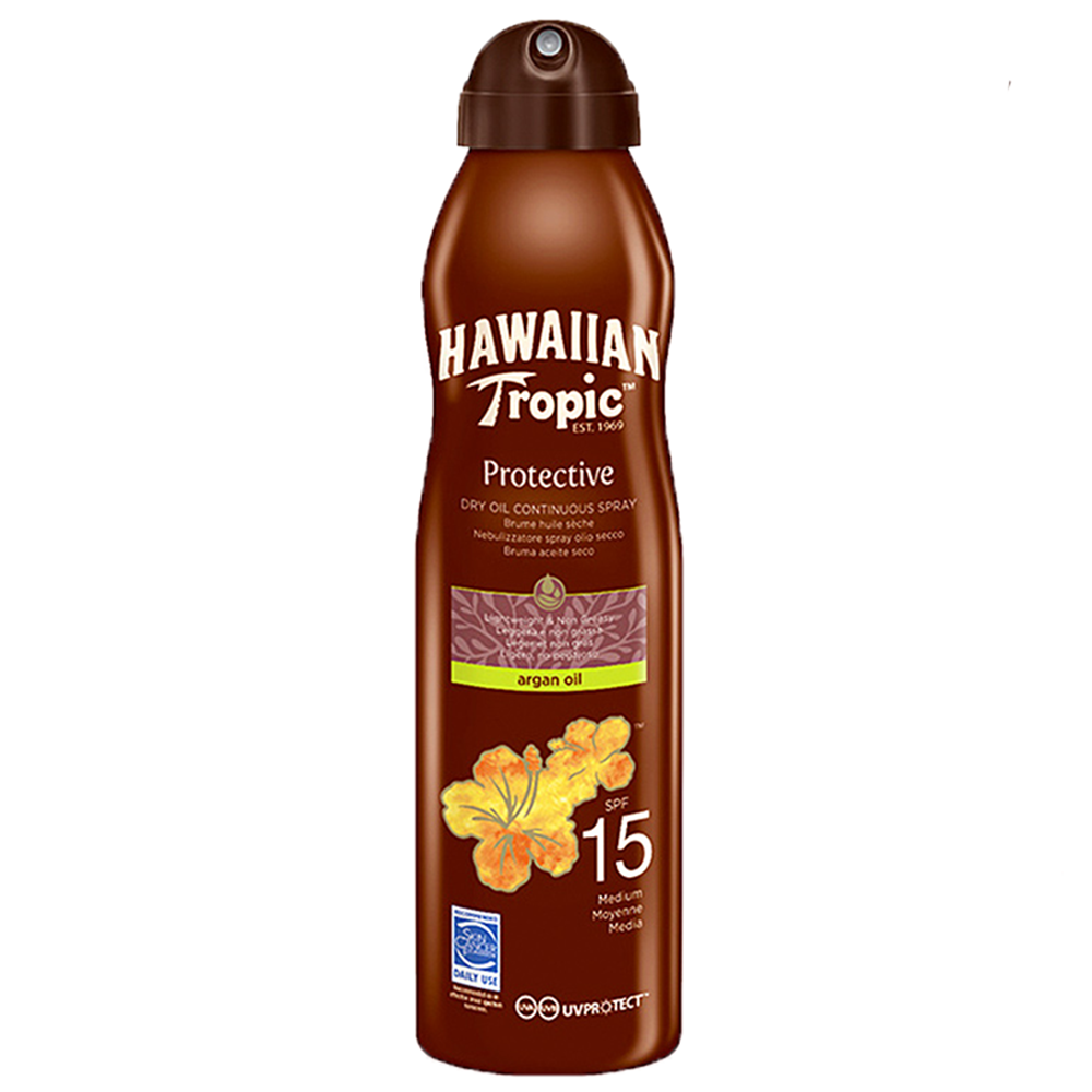 Picture of Hawaiian Tropic: Protective Dry Oil Continuous Spray 177ml - SPF 15