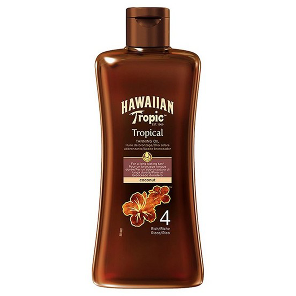 Picture of Hawaiian Tropic: Tropical Tanning Oil 200ml - 4 (Rich)