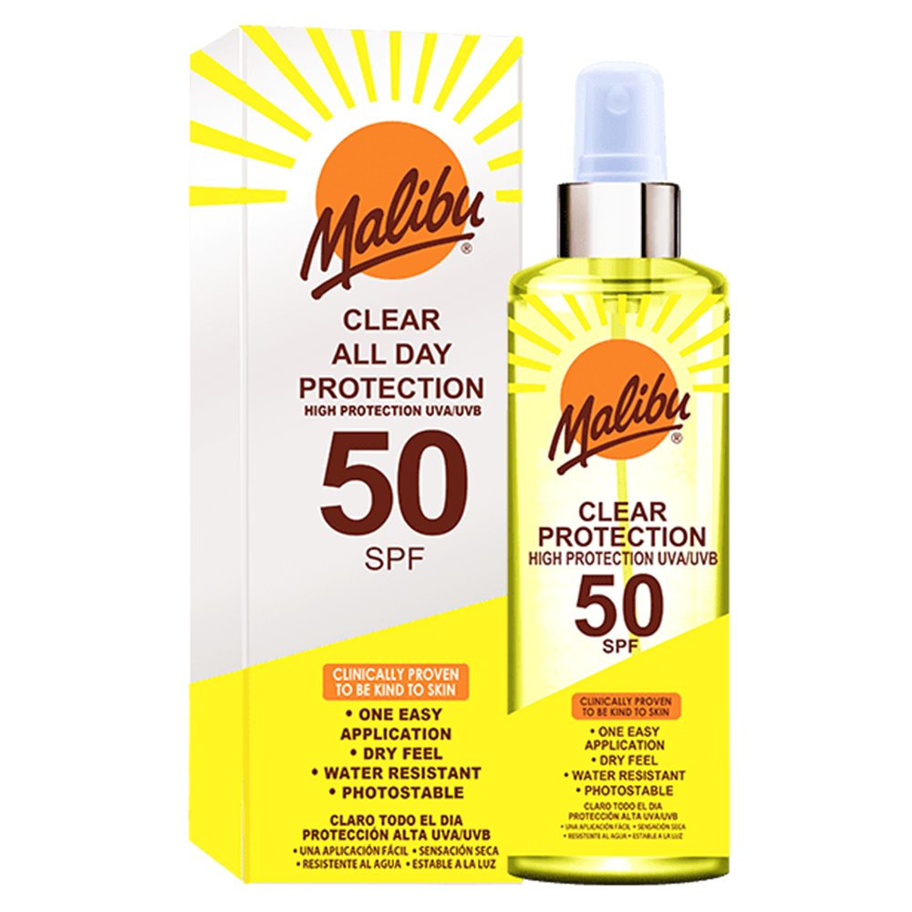 Picture of Malibu: Clear All Day Protection Spray 250ml - SPF 50