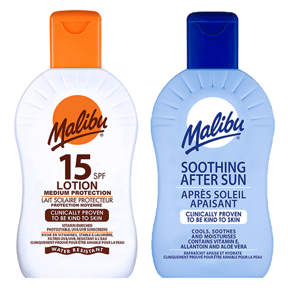 Picture of Malibu: Sun Lotion 400ml - SPF 15 & Soothing After Sun 400ml