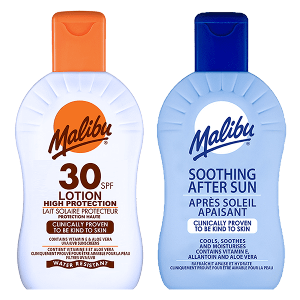Picture of Malibu: Sun Lotion 200ml - SPF 30 & Soothing After Sun 200ml