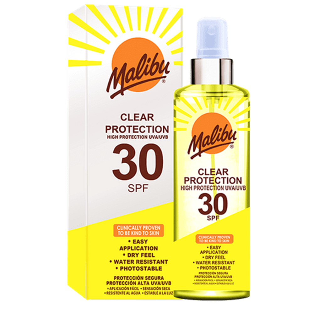 Picture of Malibu: Clear Protection Spray 250ml - SPF 30