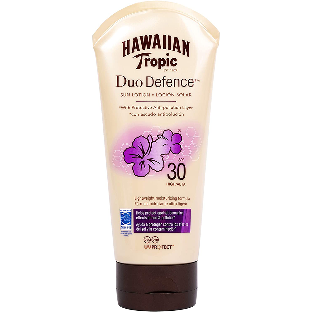 Picture of Hawaiian Tropic: Duo Defence Sun Lotion 180ml - SPF 30