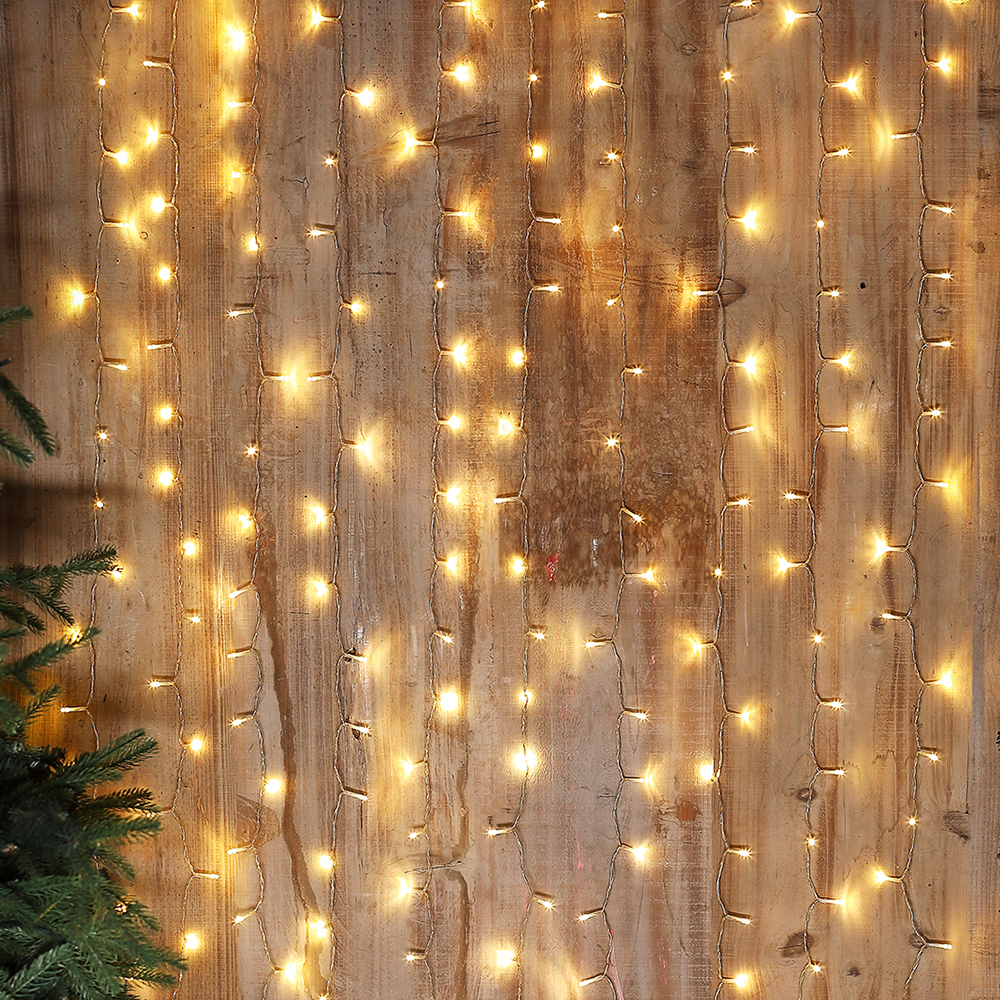 Picture of Firefly: 200 LED Curtain Solar Light Set - Warm White