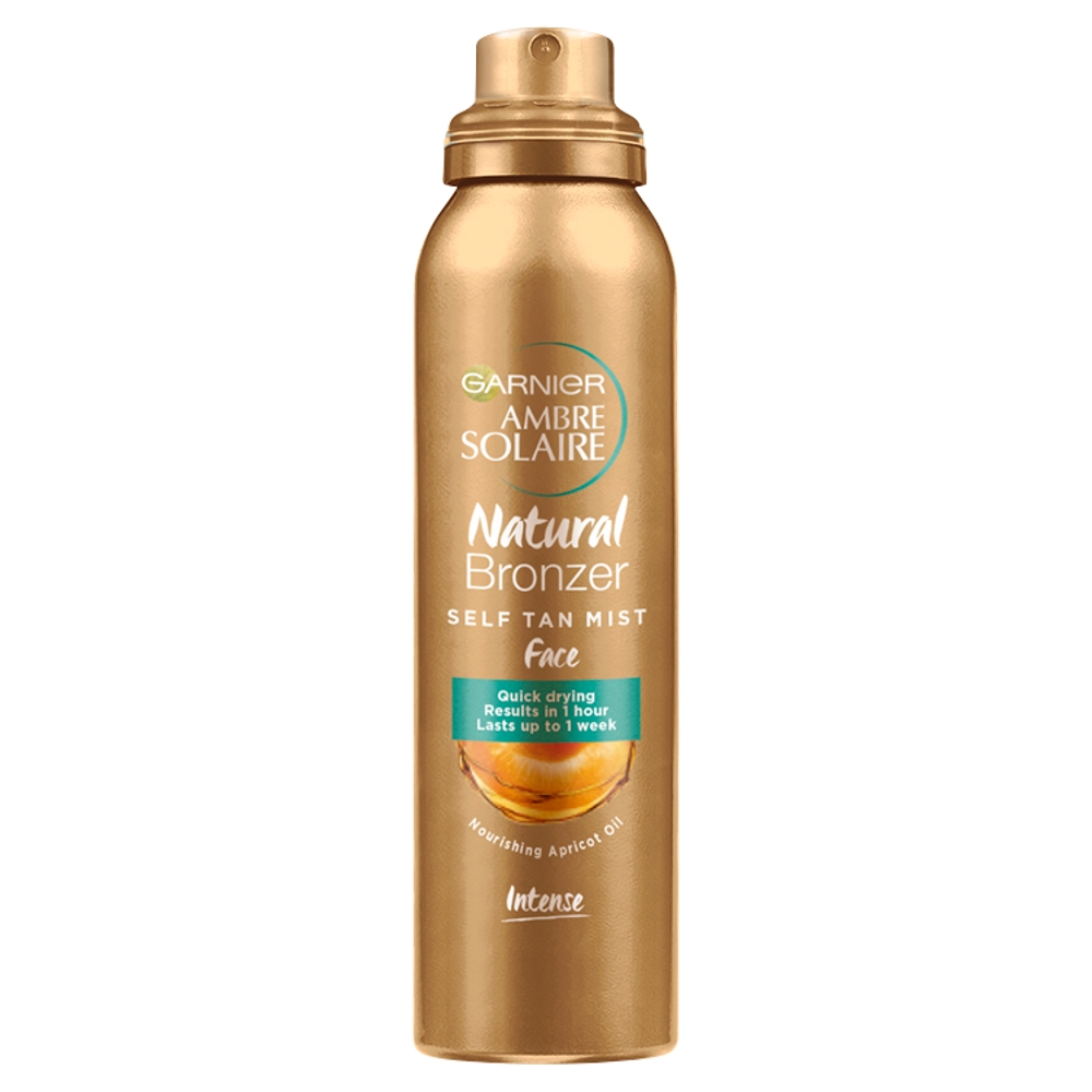 Picture of Garnier Ambre Solaire Natural Bronzer Quick Drying Dark Self Tan Face Mist 75ml