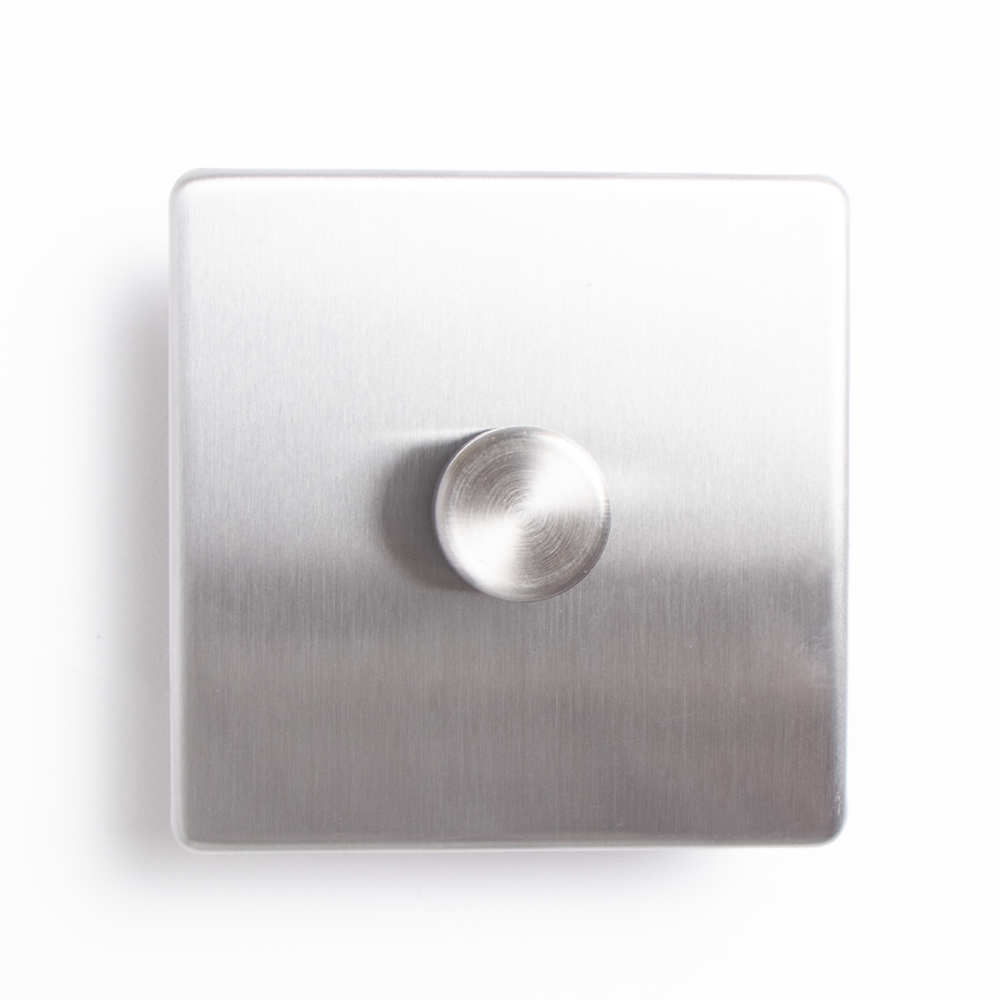Picture of Status: Single Dimmer Switch - Stainless Steel