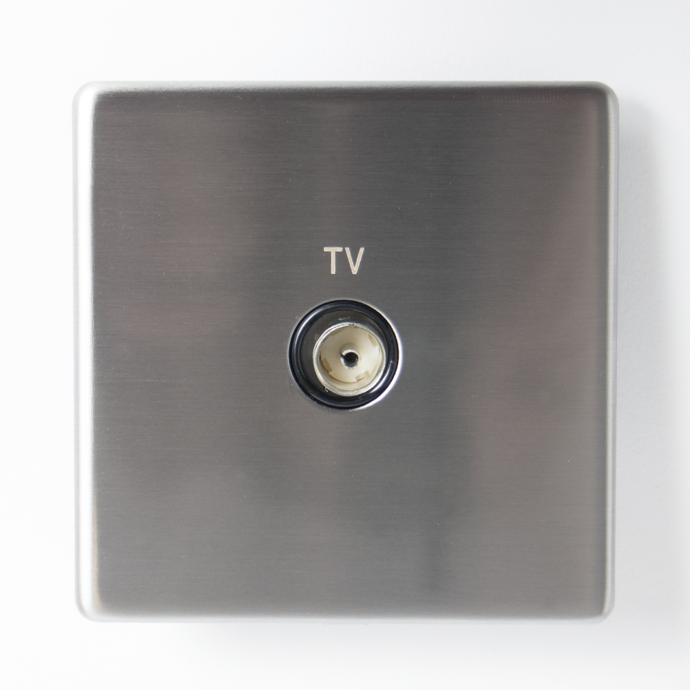 Picture of Status: Single Co Axial Socket - Stainless Steel