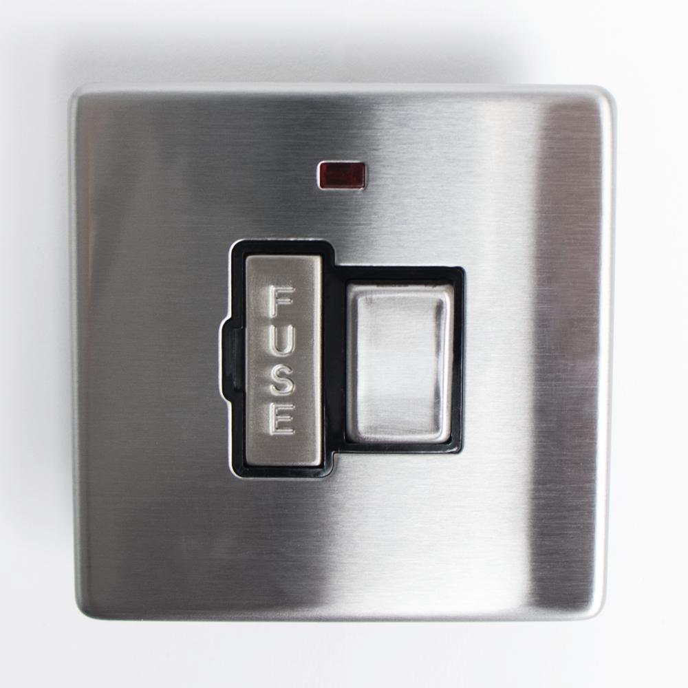 Picture of Status: 13A Switched Fused Connection Unit - Stainless Steel
