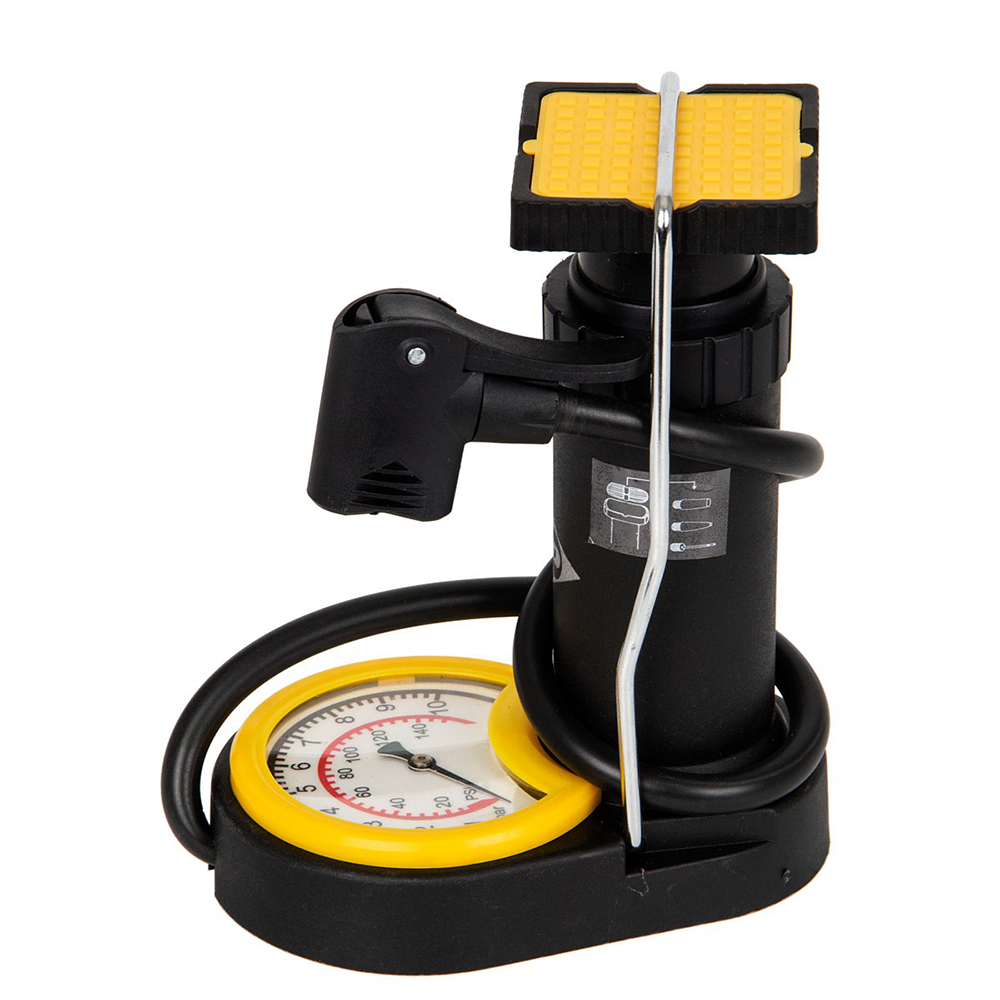 Picture of Dunlop: Mini Foot Pump with Analogue Pressure Gauge