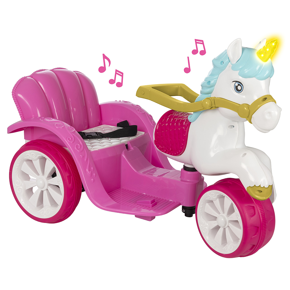 Picture of Evo: Ride-On Unicorn & Enchanted Carriage with Quilted Seat