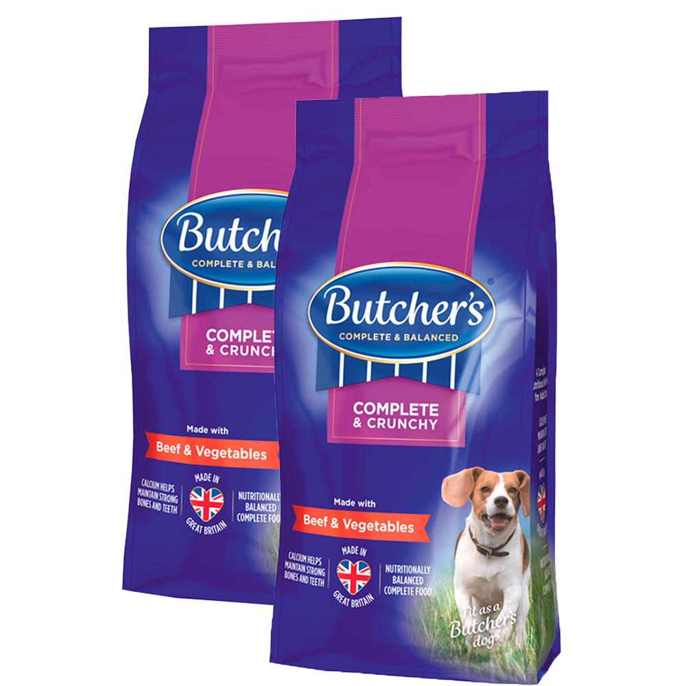 Picture of Butchers: Complete & Crunchy Beef & Veg Dry Dog Food (Case of 2 x 3kg)