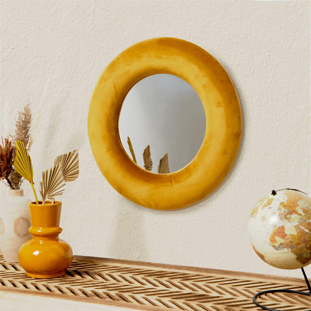 Picture of Home Collections: Velvet Round Mirror 50 x 50cm - Orche