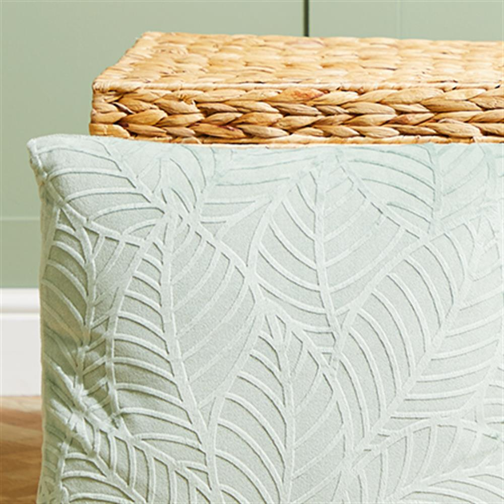 Picture of Ports of Call by Jeff Banks Velvet Leaf Cushion - Pistachio