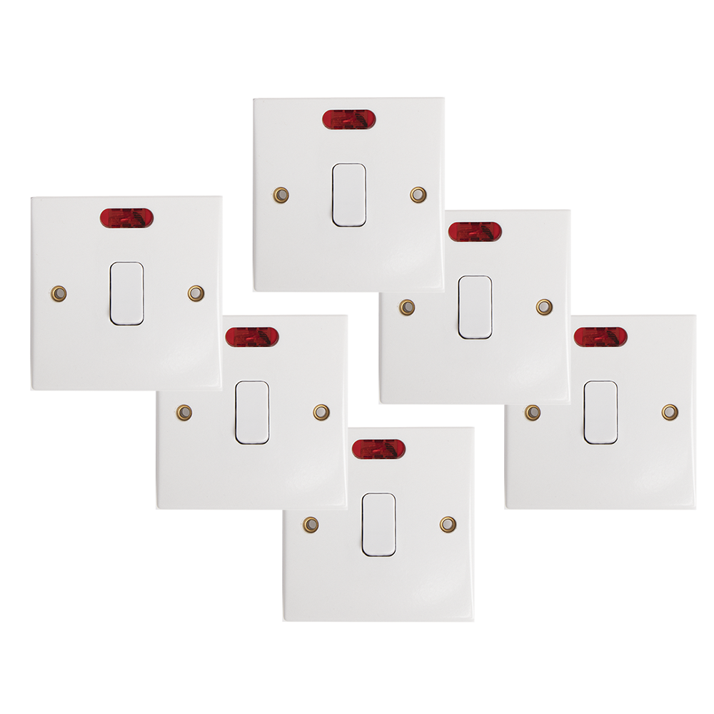 Picture of Status: Double Pole 1 Gang 20amp Switch (Case of 6)