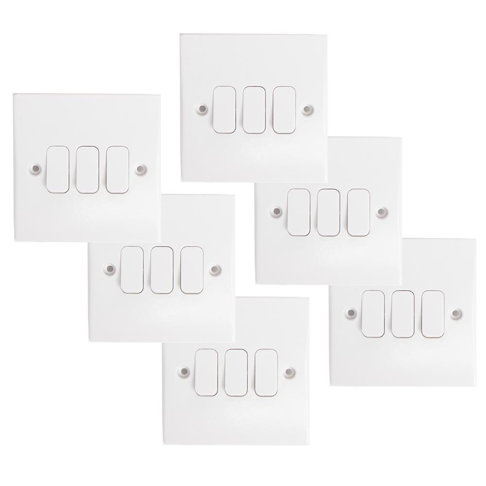 Picture of Status: 2 Way 3 Gang Light Switch (Case of 6)