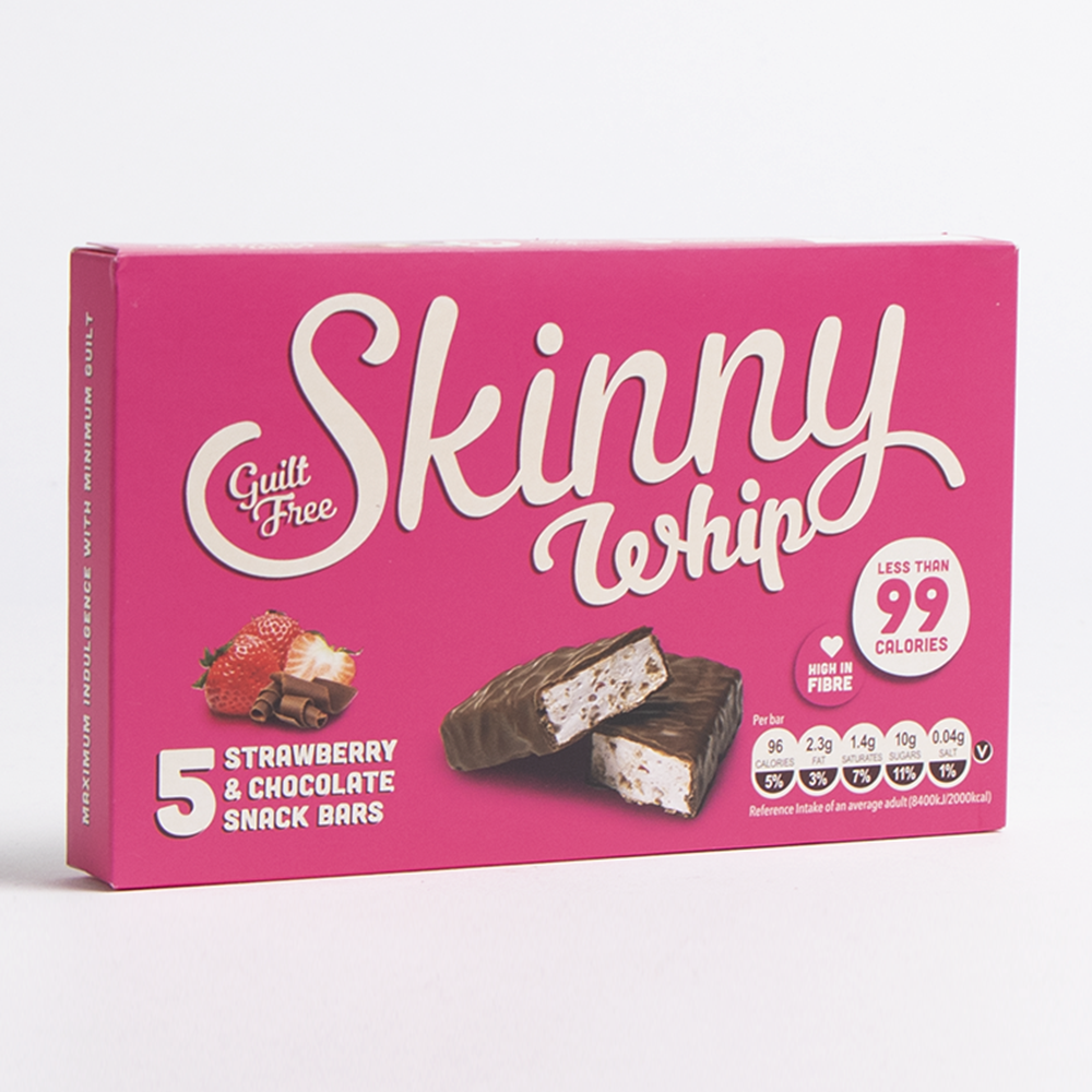 Picture of Skinny: Whip Snack Bars - Strawberry (10 x 5 Bars)
