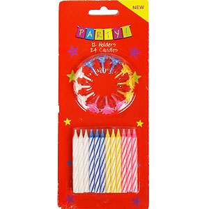Buy 24 Birthday Candles at Home Bargains