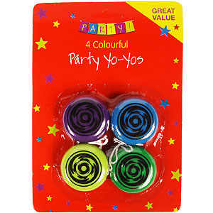 Buy Party: 4 Colourful Yo-Yos at Home Bargains
