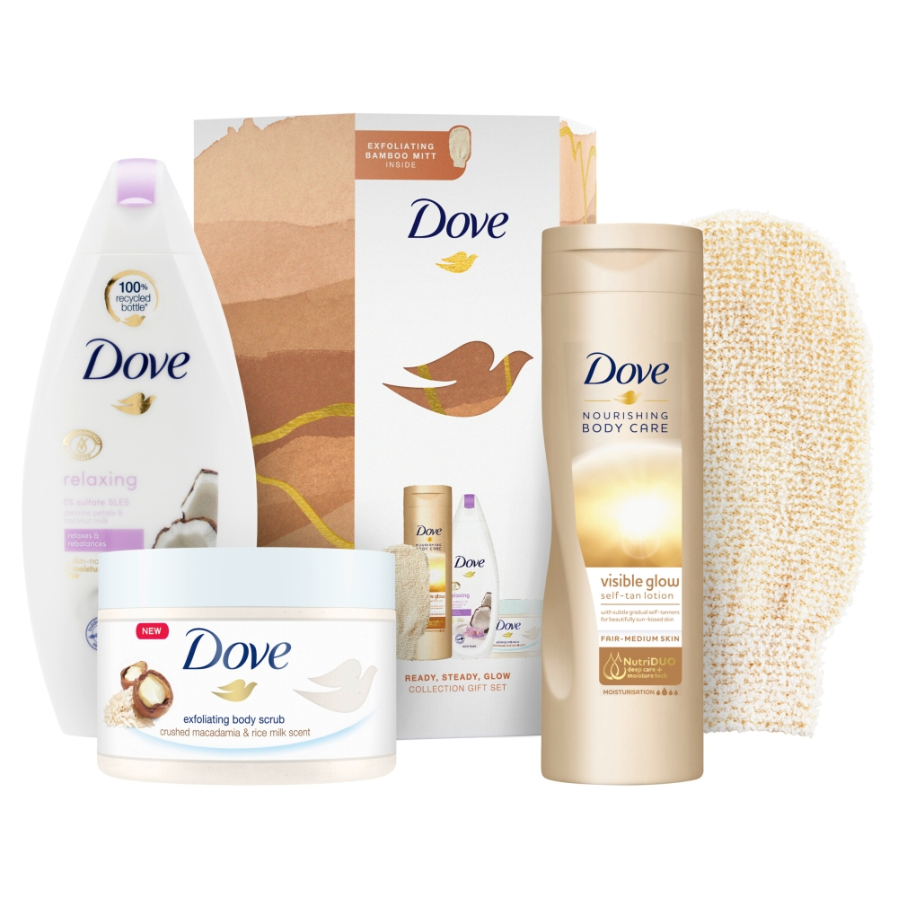Picture of Dove Ready, Steady, Glow Collection Gift Set 3 Piece