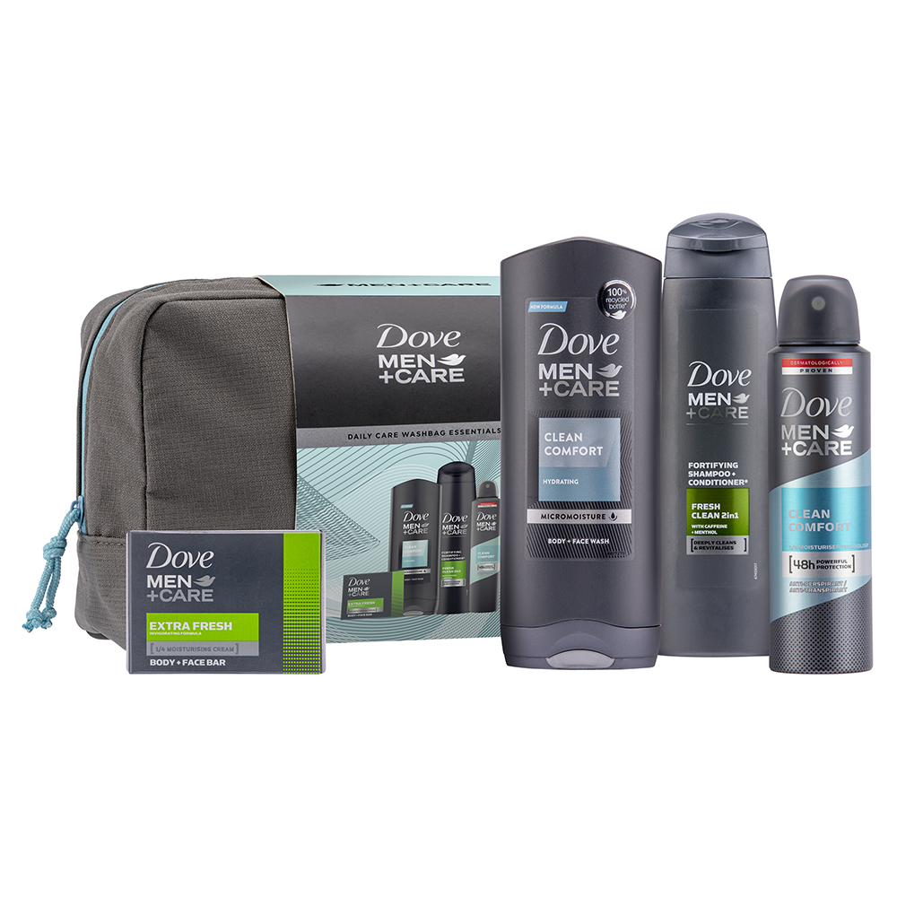 Picture of Dove: Men+Care Daily Care Wash Bag Essentials Gift Set