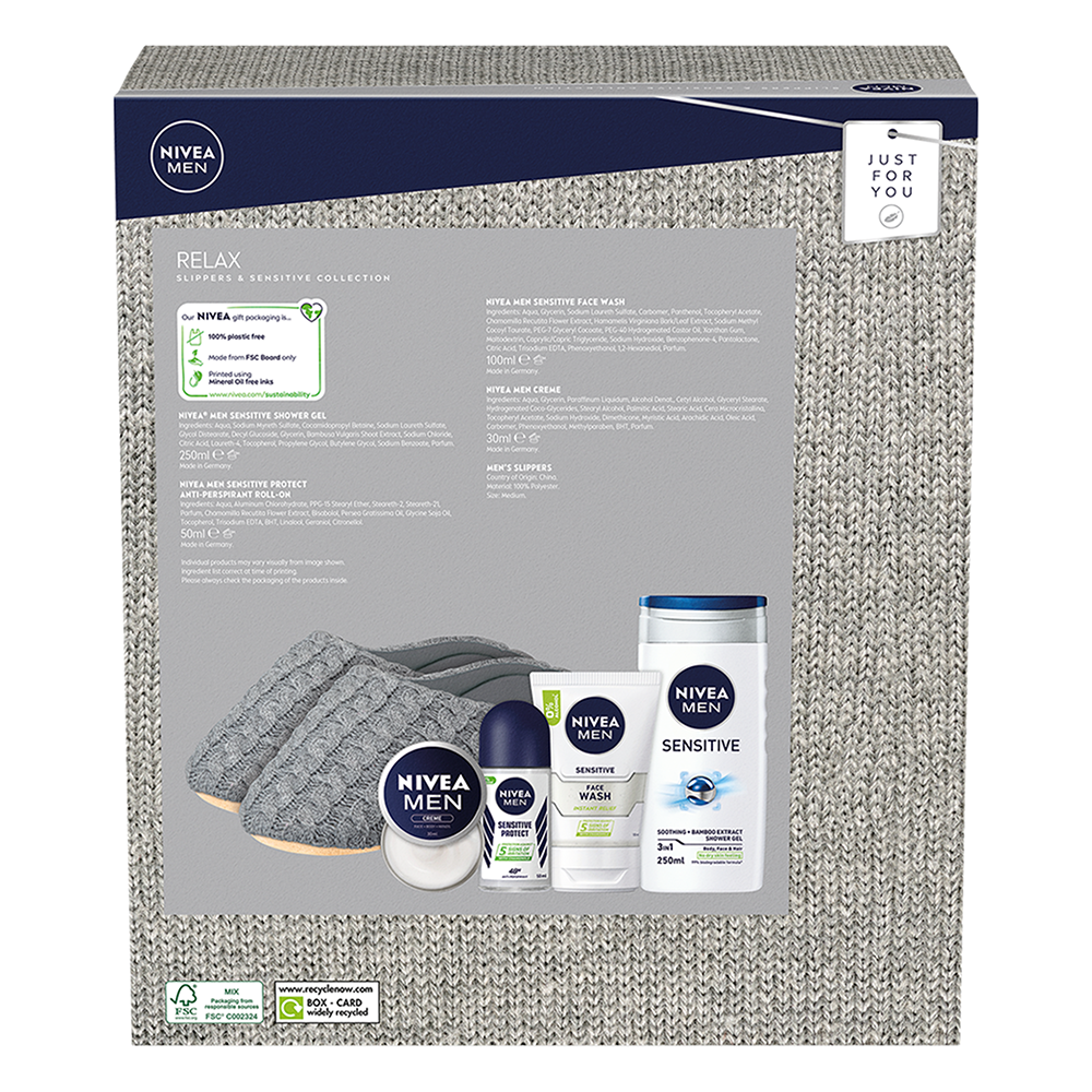 Picture of Nivea: Relax Slippers & Sensitive Collection Gift Set
