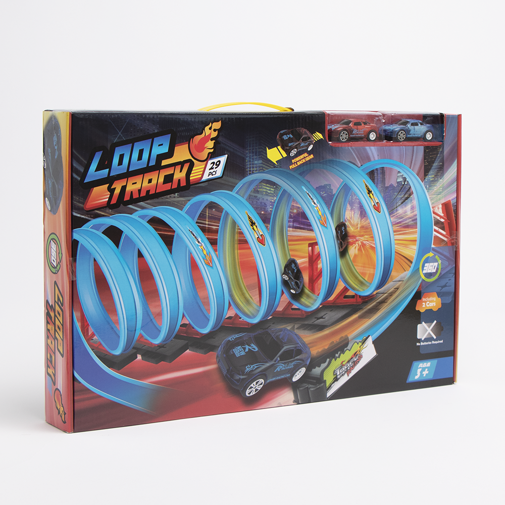 Picture of 360° Loop Track 29 Piece Play Set With 2 Cars
