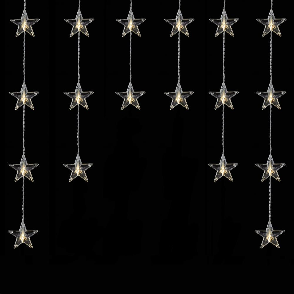 Picture of Prestige: 54 LED Star Curtain Lights - Warm White