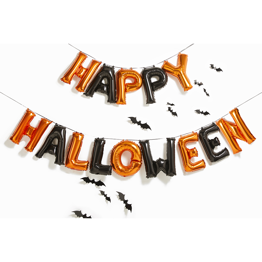 Picture of Haunted House Foil Happy Halloween Balloon