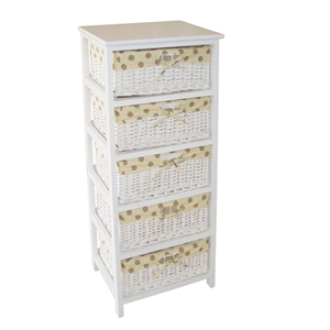 Storage Wicker Drawers Home Bargains