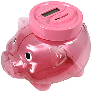 Buy digital coin counting piggy bank at home bargains - Counting piggy bank ...