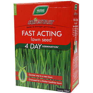 Buy Westland Surestart Fast Acting Lawn Seed 330g Box At