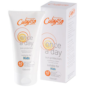 194db3bd20a Buy Calypso Kids 150ml Once a Day Lotion  SPF40 at Home Bargains