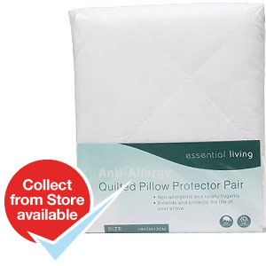 Buy anti allergy quilted pillow protector pair at home for Anti allergy pillow protector